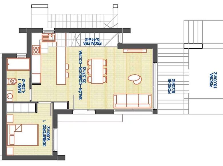3 room house in Orihuela Costa