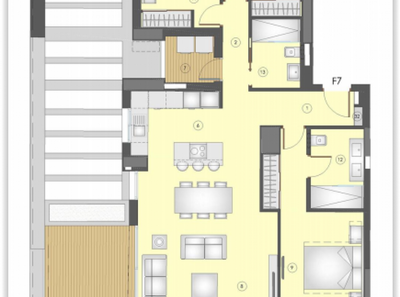 3 room apartment 167 m² in Italy, Italy - 27963333