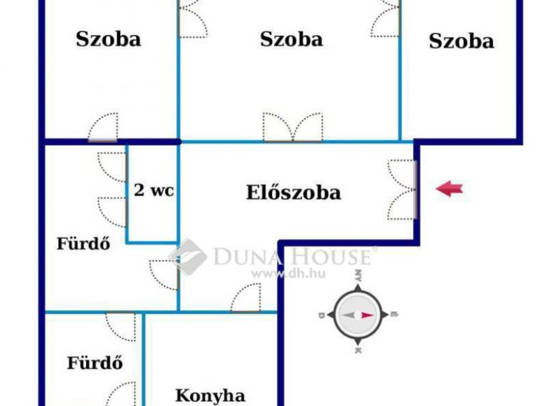 Apartment 84 m² in Central Hungary, All countries